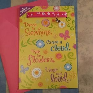 Birthday card with butterfly bracelet
